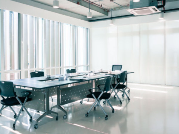 modern conference room by interior design company in qatar
