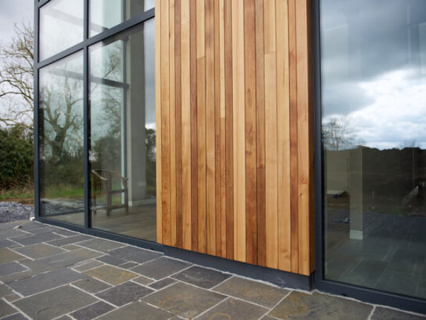 exterior timber cladding by interior design company in qatar