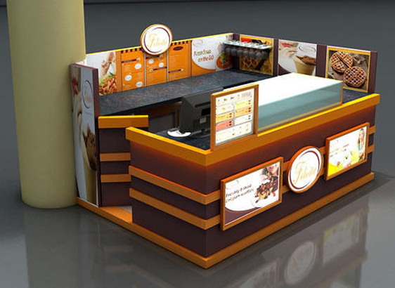 kiosk design by interiors by interior designing company in Qatar