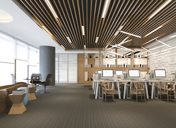 office ceiling work from softzone interior design company in qatar
