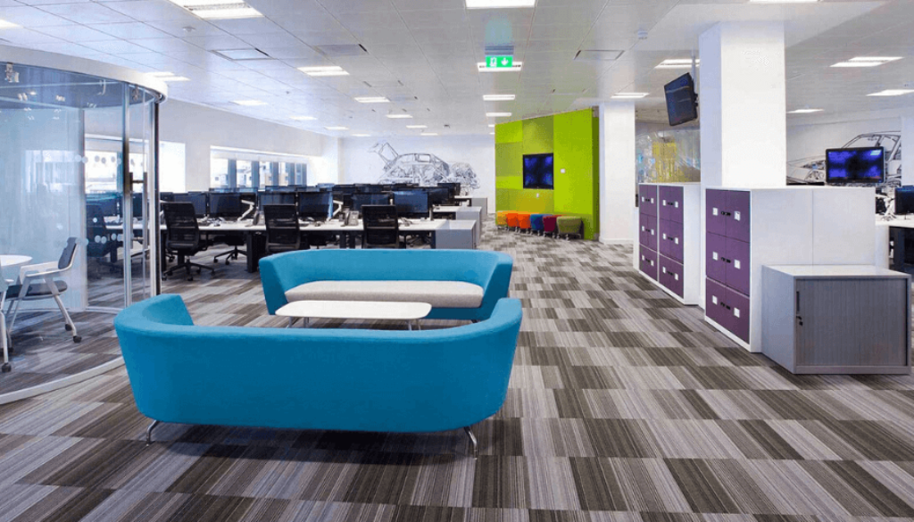 Interior Design: All you need to know about Office Flooring by Softzone interior design company in Qatar