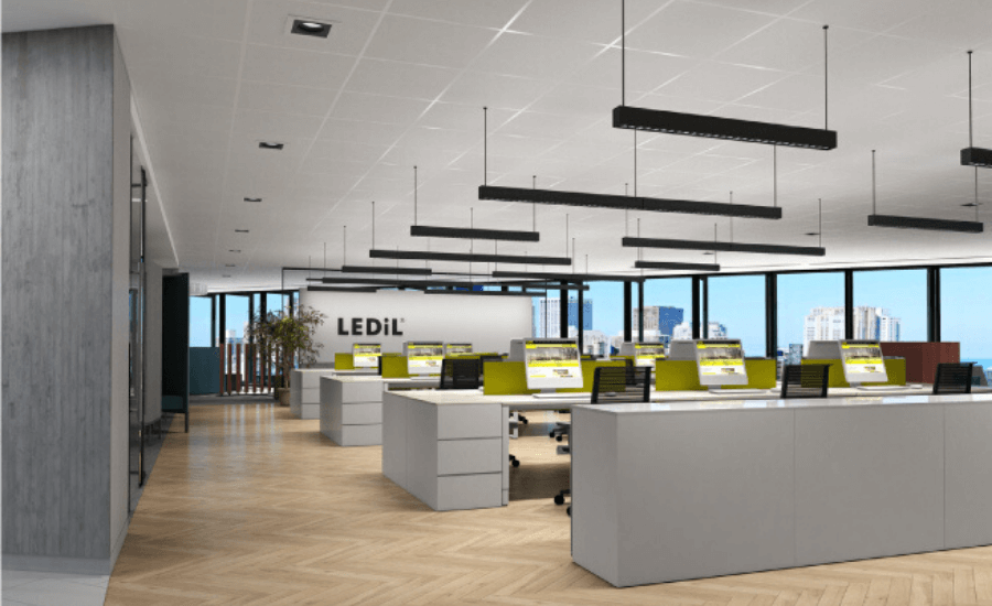 Creative Office Lighting Ideas to Increase Workplace Productivity by Softzone interior design company in Qatar