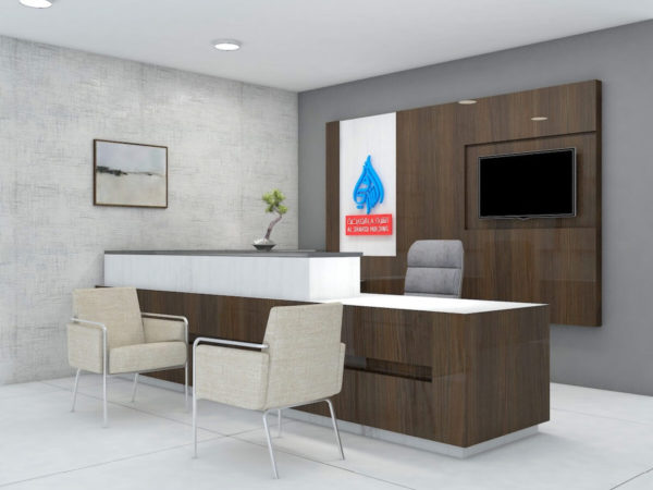 Office table, chairs and interior design works in qatar by Softzone Interiors Qatar
