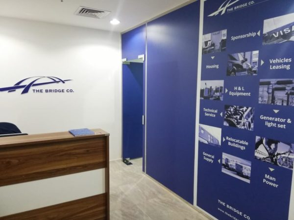 Office interior design works in qatar by Softzone Interiors